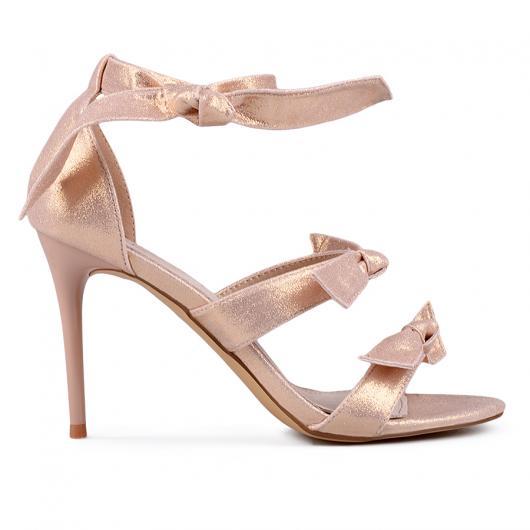 Златисти дамски елегантни сандали Verdell