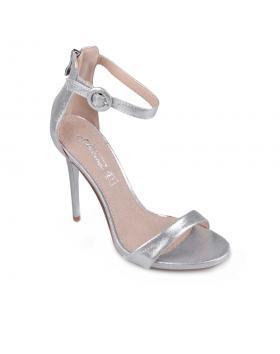 Сребристи дамски елегантни сандали Rozellia в online магазин Fashionzona