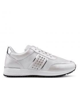 Бели дамски кецове 0134499 в online магазин Fashionzona