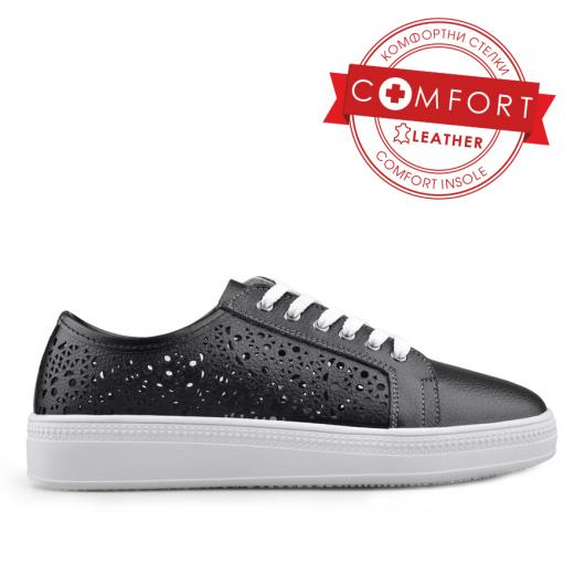 Дамски ежедневни обувки черни 0133426