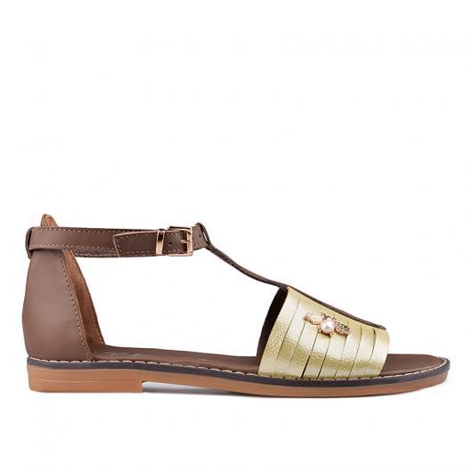 Златисти дамски ежедневни сандали Tal