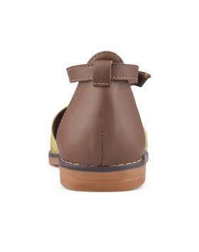 Златисти дамски ежедневни сандали Tal в online магазин Fashionzona