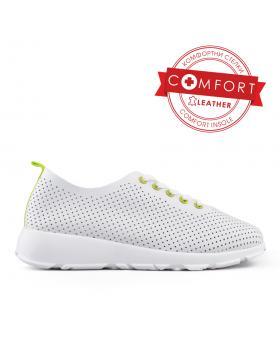 Бели дамски кецове 0134009 в online магазин Fashionzona