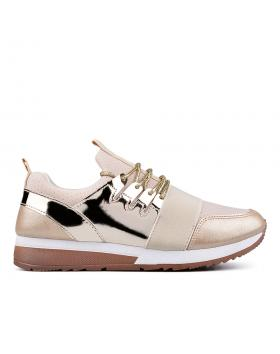 Златисти дамски кецове 0132923 в online магазин Fashionzona