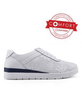 Бели дамски ежедневни обувки 0133424 в online магазин Fashionzona