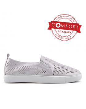 Сребристи дамски ежедневни обувки 0133402 в online магазин Fashionzona