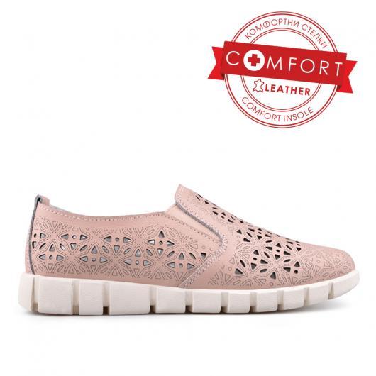Розови дамски ежедневни обувки 0133385