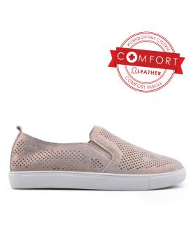 Златисти дамски ежедневни обувки 0133403 в online магазин Fashionzona