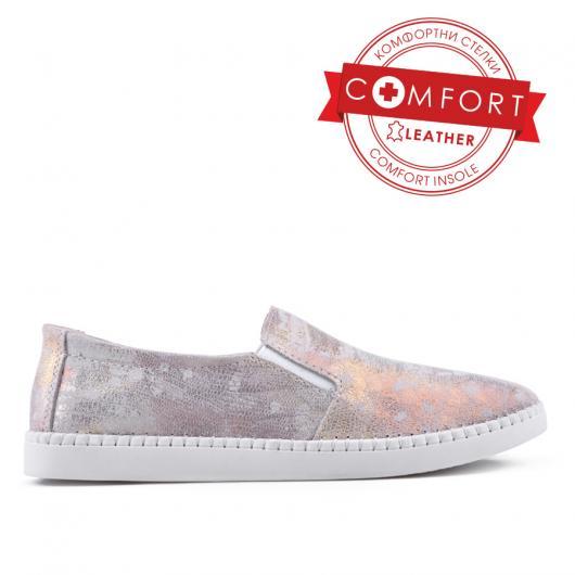 Златисти дамски ежедневни обувки 0133399