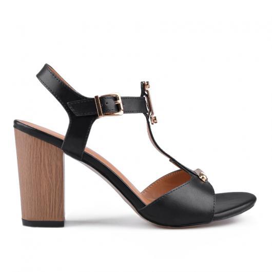 Дамски елегантни сандали черни 0133750