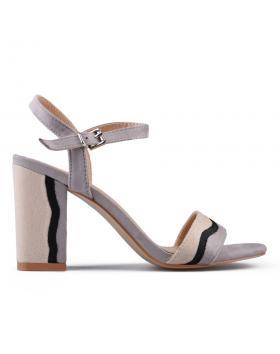 Сиви дамски елегантни сандали 0133747 в online магазин Fashionzona
