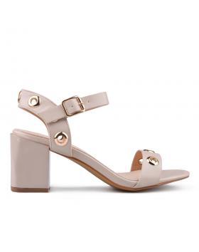 Бежови дамски елегантни сандали 0133659 в online магазин Fashionzona