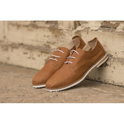 Кафяви дамски ежедневни обувки crispy06 crispy06 taba