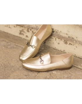 Златни дамски ежедневни обувки brigget01 в online магазин Fashionzona