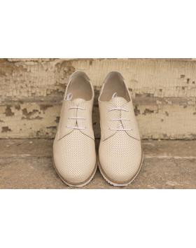 Бежови дамски ежедневни обувки Linda в online магазин Fashionzona