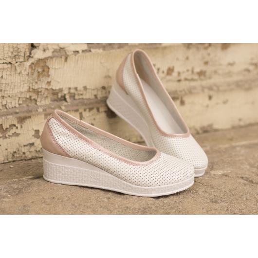 Бели дамски ежедневни обувки 286 Faun
