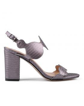 Сиви дамски елегантни сандали Kortney в online магазин Fashionzona