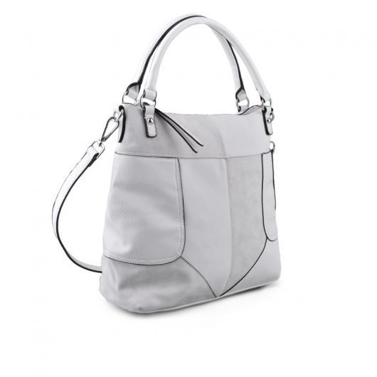 Бяла дамска ежедневна чанта Mystique