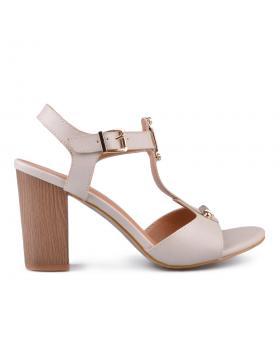 Бежови дамски елегантни сандали Tita в online магазин Fashionzona