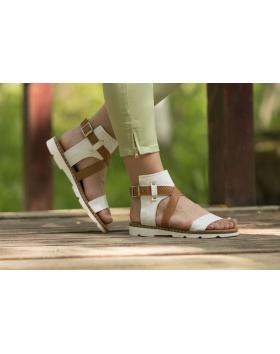 Дамски ежедневни сандали бели allida11 allida11 white в online магазин Fashionzona