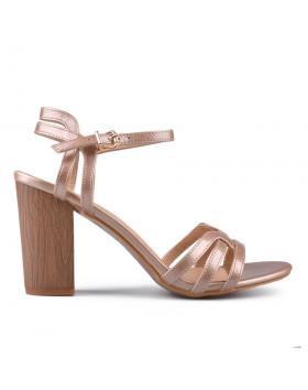 Бежови дамски елегантни сандали 0133753 в online магазин Fashionzona