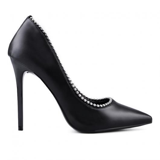 Черни дамски елегантни обувки Kels