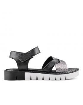 Черни дамски ежедневни сандали 0135027 в online магазин Fashionzona