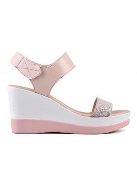 Бежови дамски ежедневни сандали 0135006 в online магазин Fashionzona