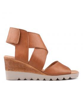 Кафяви дамски ежедневни сандали 0135020 в online магазин Fashionzona