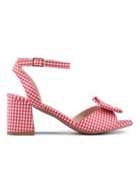 Червени дамски елегантни сандали 0133860