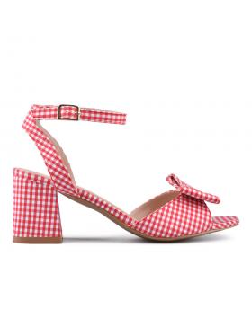 Червени дамски елегантни сандали 0133860 в online магазин Fashionzona
