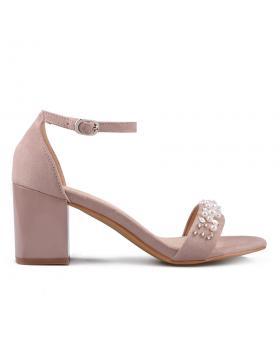 Бежови дамски елегантни сандали 0133629 в online магазин Fashionzona