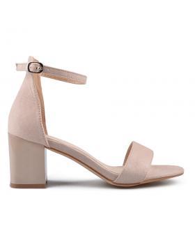 Бежови дамски елегантни сандали 0133635 в online магазин Fashionzona