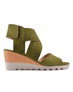 Зелени дамски ежедневни сандали Coley в online магазин Fashionzona