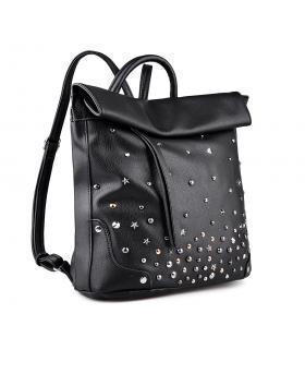 Черна дамска раница 0134309 в online магазин Fashionzona