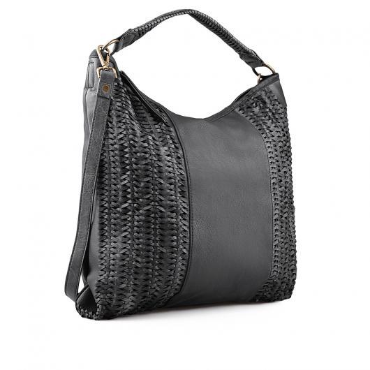 Черна дамска ежедневна чанта 0134284