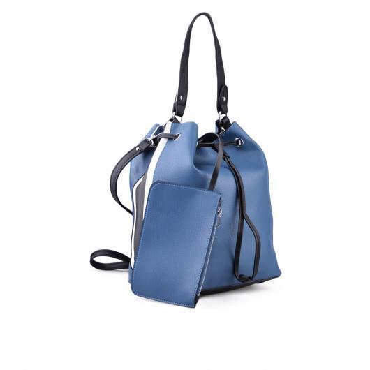 Синя дамска ежедневна чанта 0134246