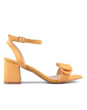 Жълти дамски елегантни сандали 0133846 в online магазин Fashionzona