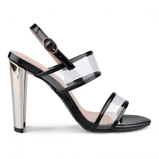 Черни дамски елегантни сандали Xalvadora