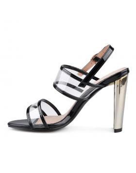 Черни дамски елегантни сандали Xalvadora в online магазин Fashionzona