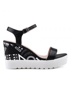 Дамски ежедневни сандали черни 0134345 в online магазин Fashionzona