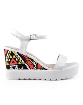 Дамски ежедневни сандали бели 0134346 в online магазин Fashionzona