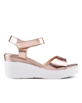 Златисти дамски ежедневни сандали 0134358 в online магазин Fashionzona