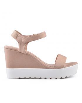 Дамски ежедневни сандали бежови 0134353 в online магазин Fashionzona