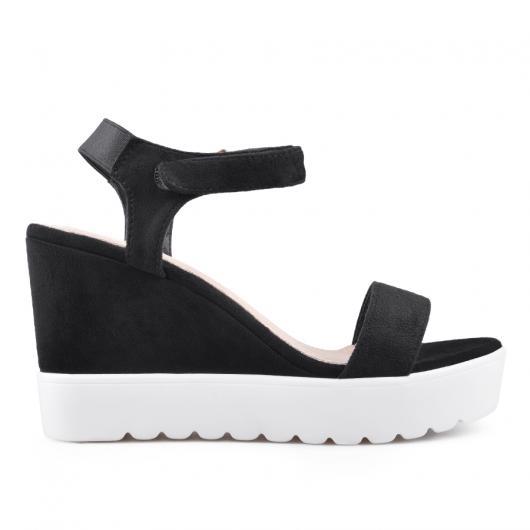 Черни дамски ежедневни сандали 0134352