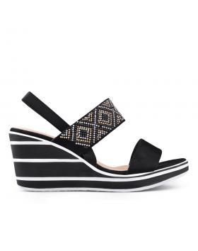 Черни дамски ежедневни сандали 0134361 в online магазин Fashionzona