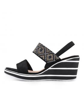 Черни дамски ежедневни сандали Acelin в online магазин Fashionzona