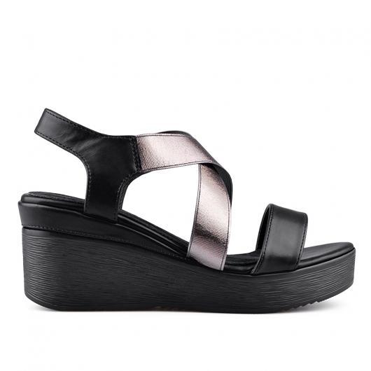 Черни дамски ежедневни сандали 0134355