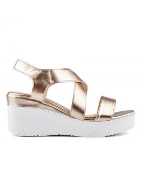 Златисти дамски ежедневни сандали 0134356 в online магазин Fashionzona