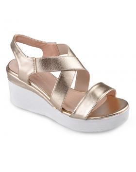 Златисти дамски ежедневни сандали Lalita в online магазин Fashionzona